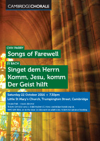 Parry: Songs of Farewell & Bach: Three Motets